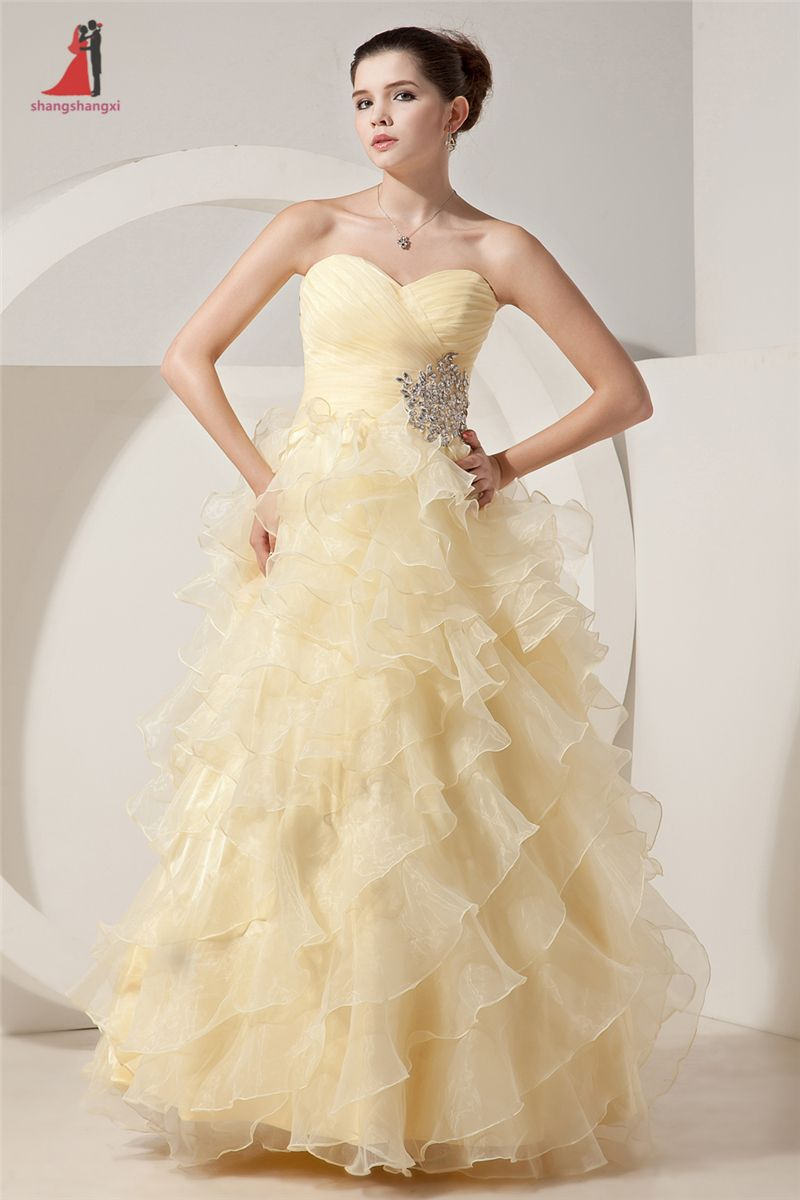 Click to buy ucuc champagne quinceanera dresses sweetheart beads