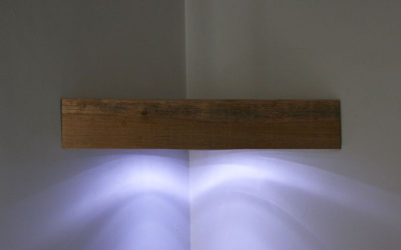 Corner Floating Shelf Solid Oak Or Pine With Led Light Multi Listing Floating Wall Shelves Oak Floating Shelves Shelves