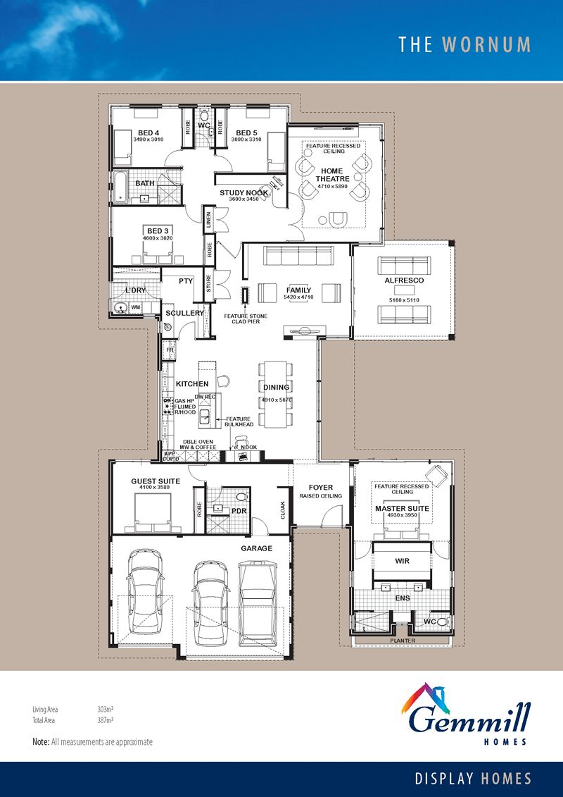 a total dream house the wornum floorplan - Wa Home Designs