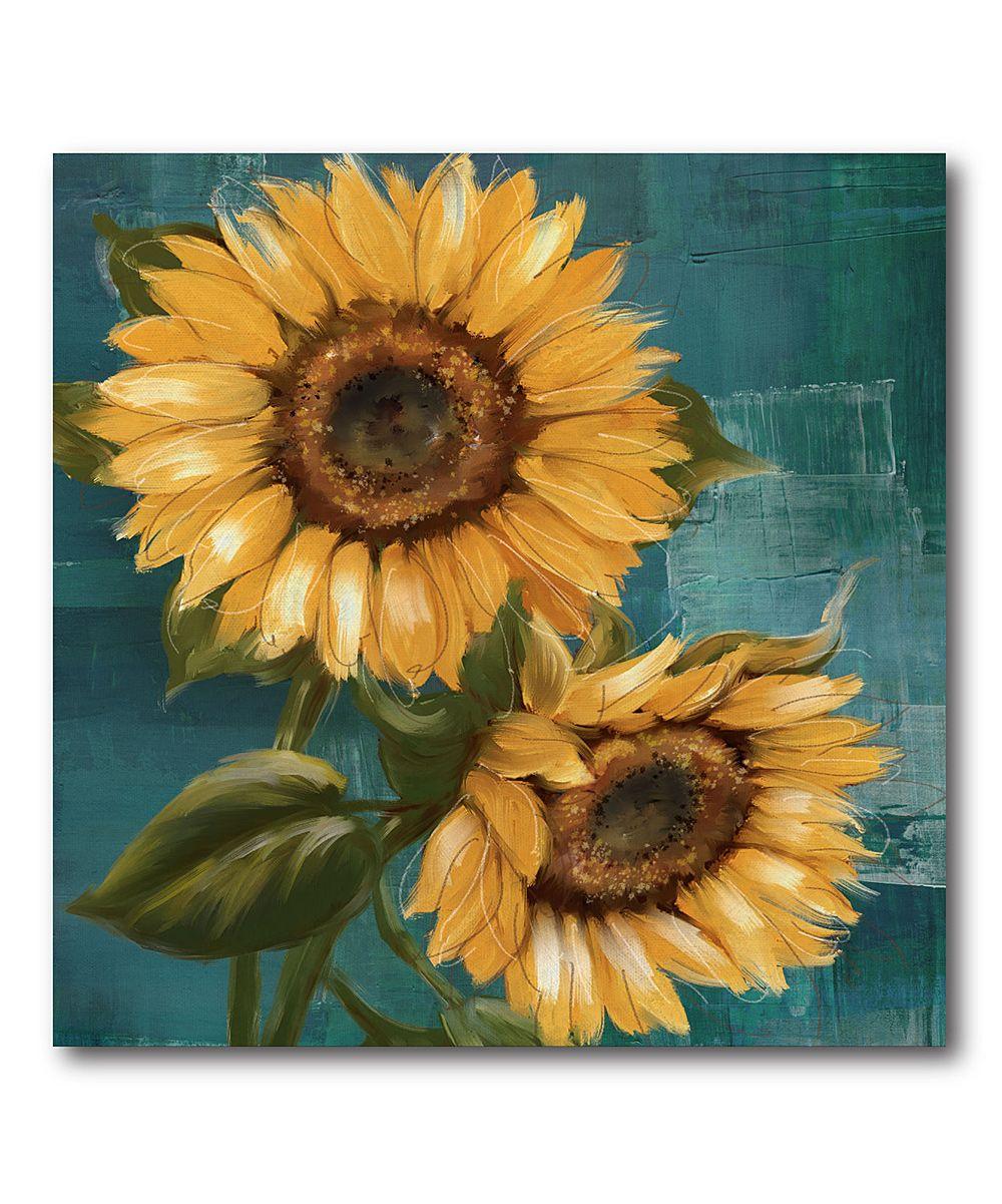Sunflowers Wrapped Canvas (с изображениями) | Картинки ...