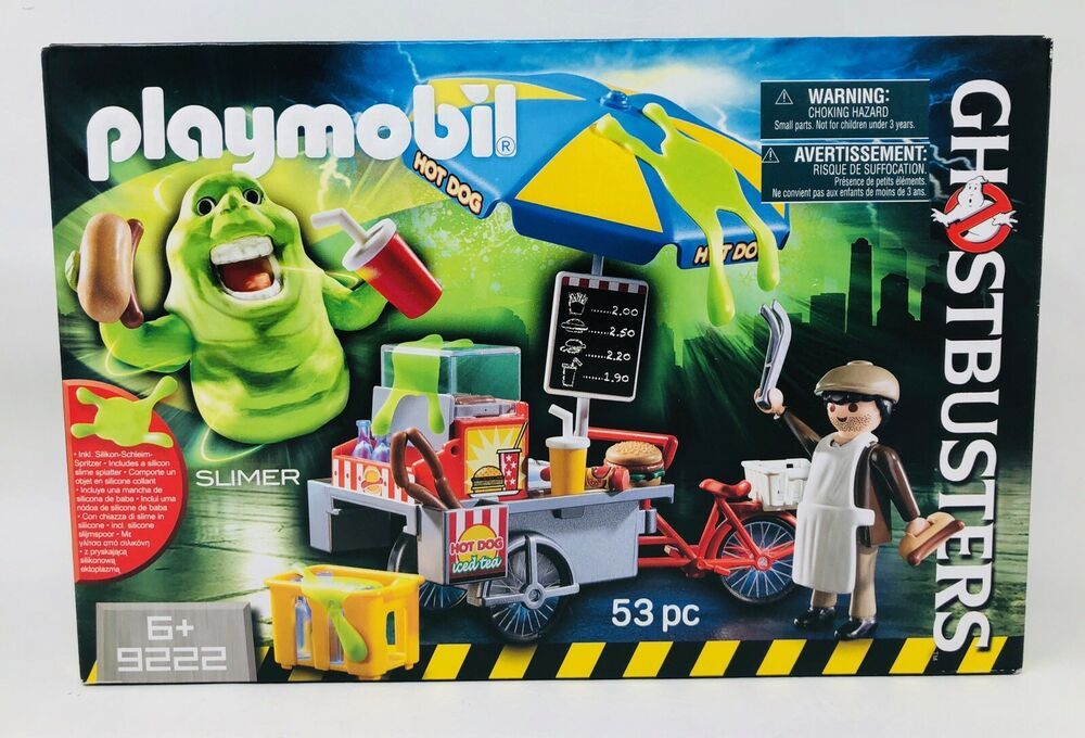 Playmobil 9222 GHOSTBUSTERS Hot Dog Stand con Slimer