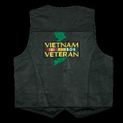 d9cd01a55 Vest - Leather - Vietnam Veteran | Veteran Apparel | Leather vest ...