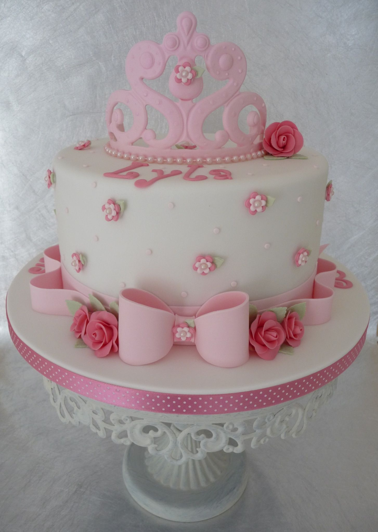 Pretty Shabby Chic Birthday Cake