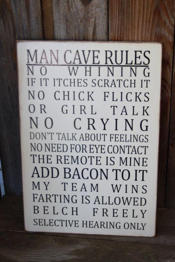 12x18 Mdf Man Cave Rules Man Cave Basement Man Cave Home Bar