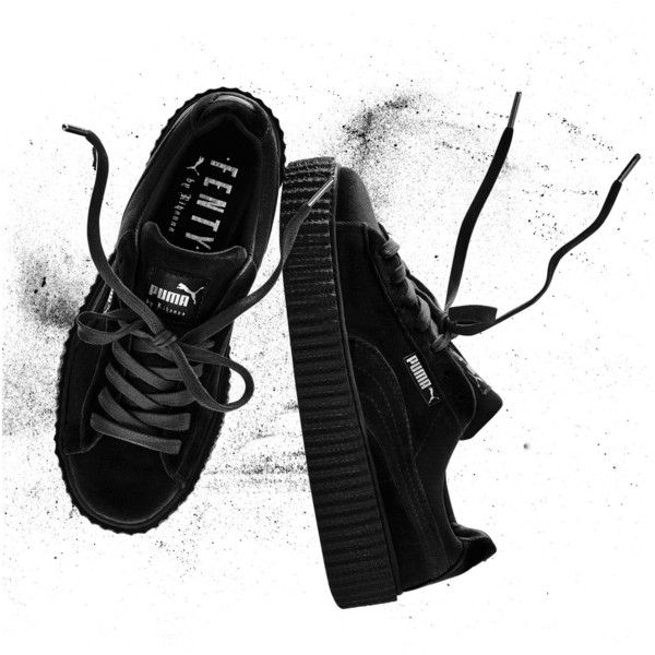 Fenty Puma By Rihanna Velvet Low-Top Creeper ( 150) ❤ liked on Polyvore  featuring shoes 3fb315b8d