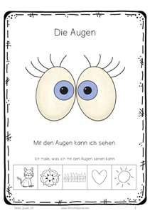 Meine fünf Sinne in 2018 | German | Pinterest | Kindergarten ...