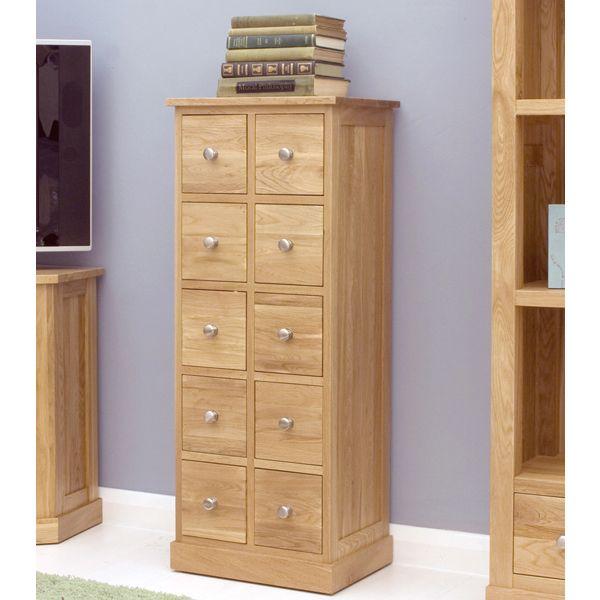 solid oak dvd storage chest from big blu furniture
