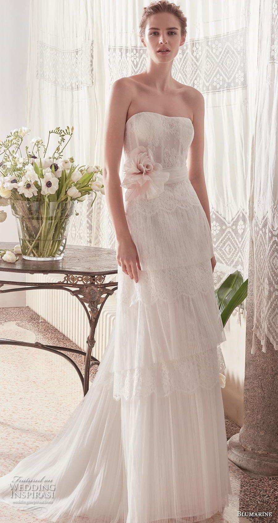 Weddinginspirasi.com featuring - blumarine sposa 2019 bridal strapless semi  sweetheart neckline light embellishment tiered 9f1a0857e75