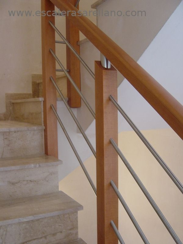 Pasamanos de madera precios good affordable good interior - Escaleras telescopicas precios ...