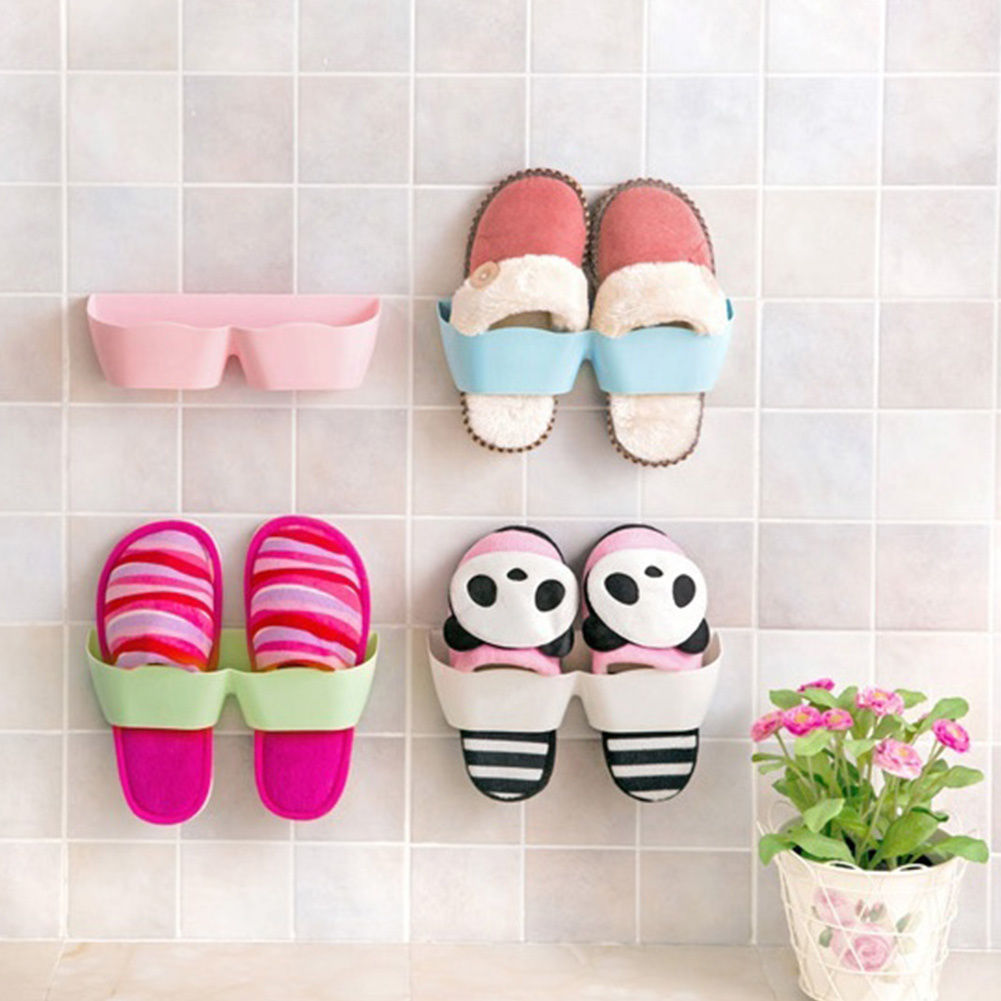 wallmounted type living room bathroom shoes storage holder