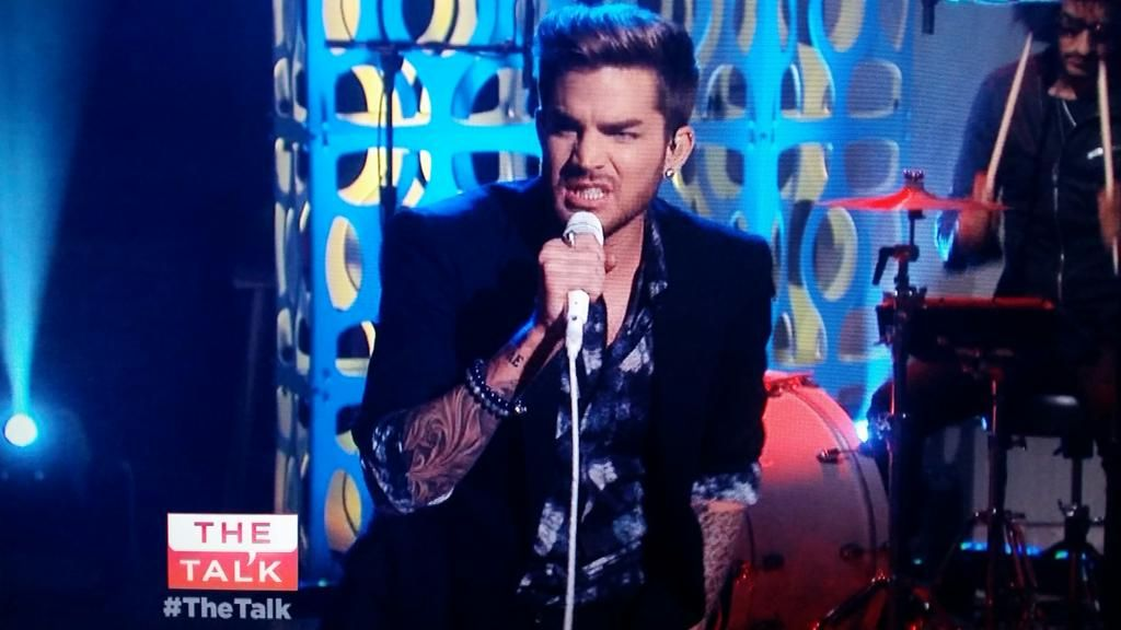Adam Lambert on The Talk, July 20, 2015