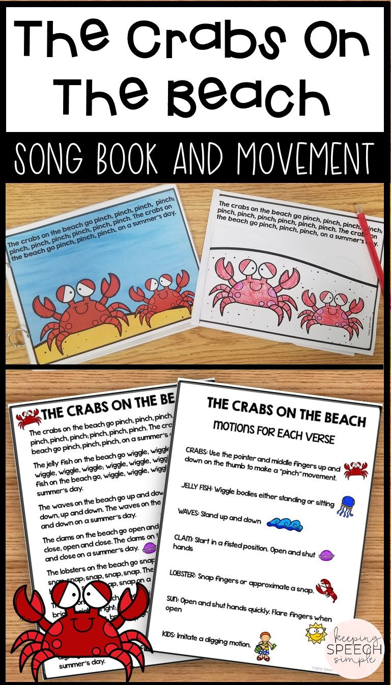 Crabs On The Beach Book Song And Movement For Circle Time