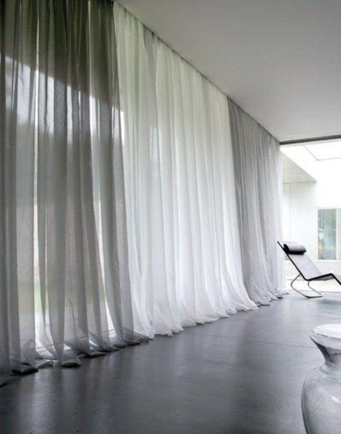 Le rideau voilage dans 41 photos! | Rideaux et stores | Pinterest ...