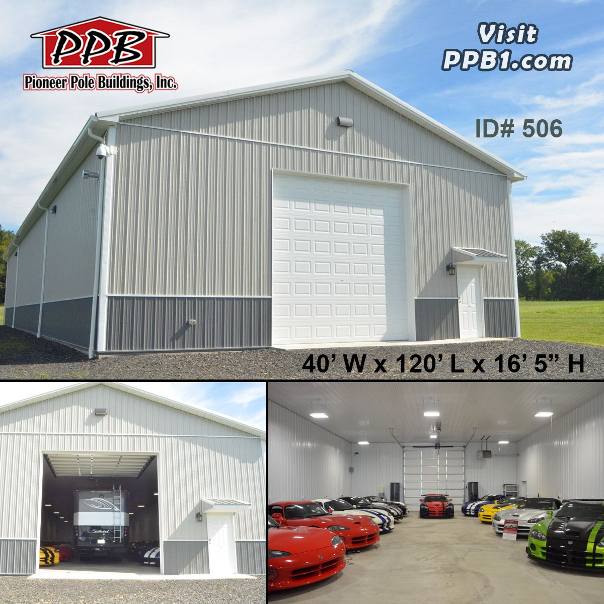Check Out This 40 W X 120 L X 16 5 H Building Colors Siding Upper Color Ash Gray Lower Color Charcoal Roo Shed Design Pole Buildings Insulated Panels