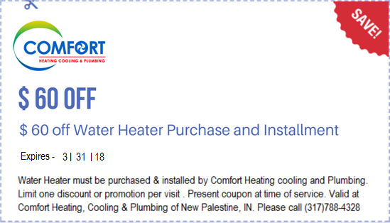 60 Off On Water Heater Purchase And Installment By Comfort