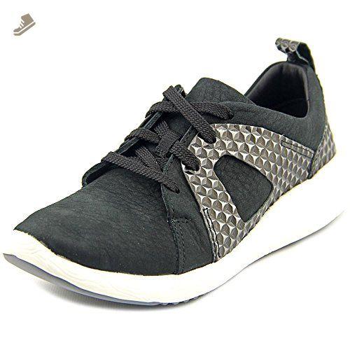 cde3aca252be5 Clarks Women's Cowley Faye Black Nubuck 7 M - Clarks sneakers for ...