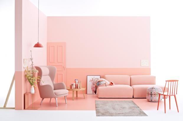 Gepudert | Farbkonzepte | Pinterest | Mehr Ideen Zu Wohnen ... Rosa Wande Wohnzimmer