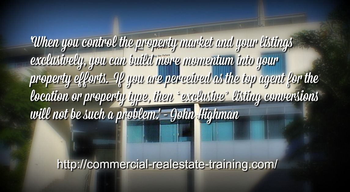 Focus On Exclusive Listings In Commercial Real Estate Brokerage