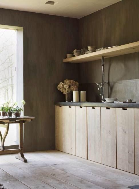 Wood Kitchen Cocinas De Estilo Rustico Encimeras Negras