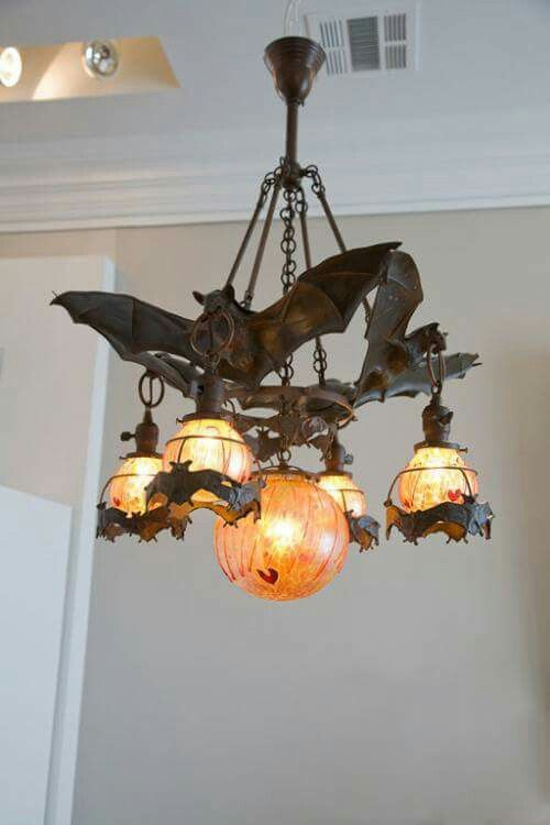 Bat Chandelier Gothic Decor