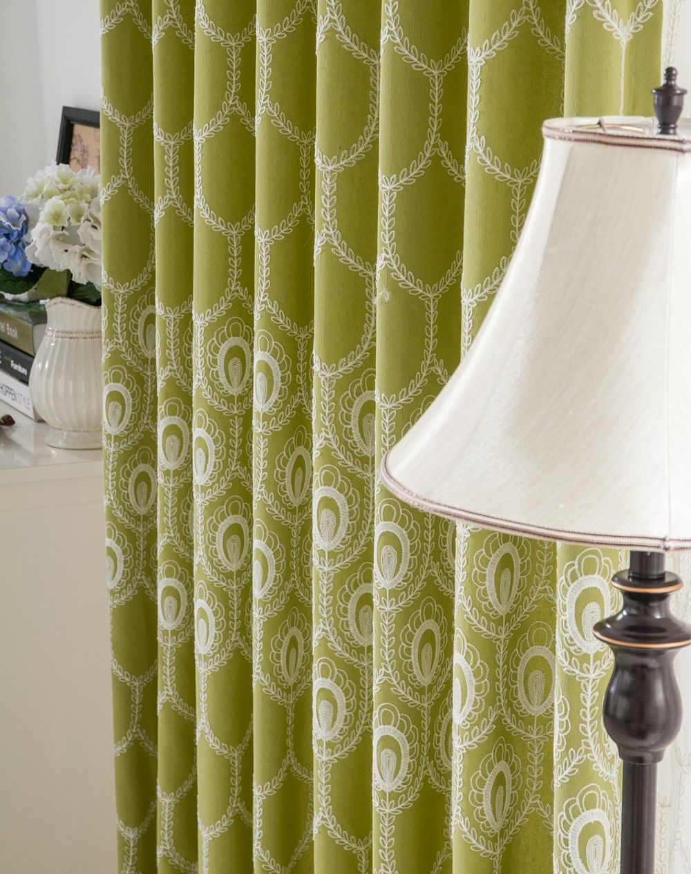 Phoenix Ling Cotton Embroidery Curtain With Special Cutting Edge French Window Embroidered Living Room Curtains Luxury Sheer-in Curtains from Home, Kitchen & Garden on Aliexpress.com   Alibaba Group