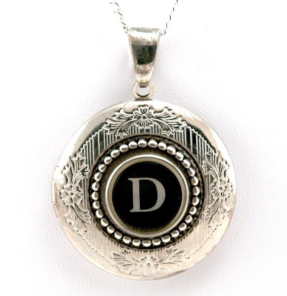 Women's Locket Initial Letter D Letter d, Lettering