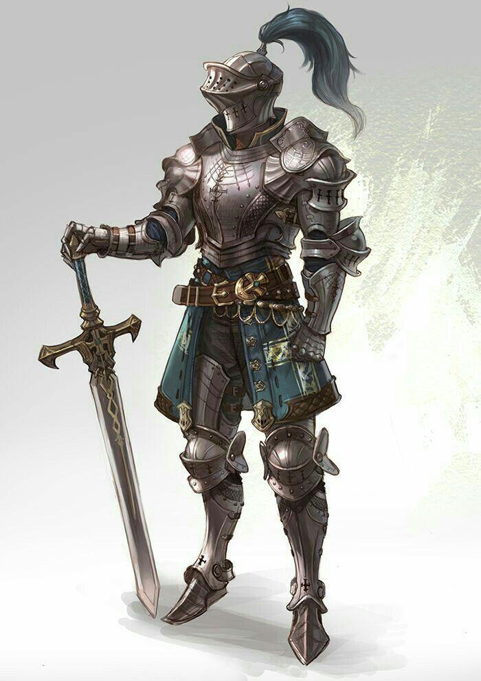 Human Fighter Knight - Pathfinder PFRPG DND D&D d20 fantasy in 2019 | Fantasy armor, Knight art ...