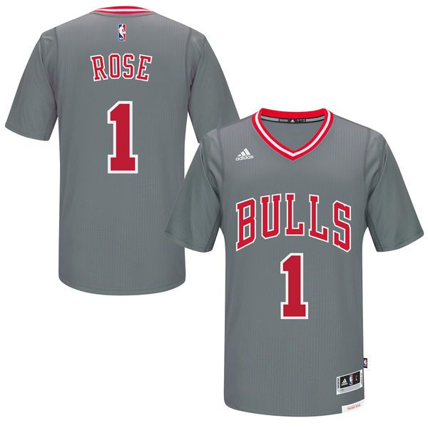 size 40 09d2b 1d1f1 Men's Chicago Bulls Derrick Rose adidas Gray Pride Swingman ...