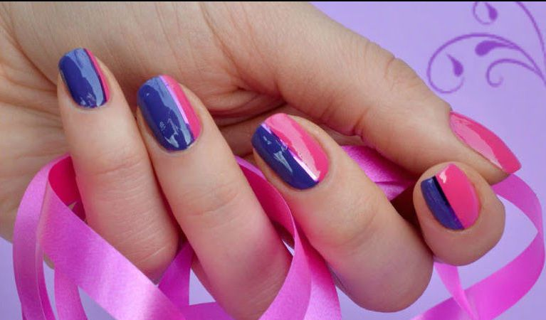 Nail Designs With Pink And Blue Gallery Art Design - Pink Blue Nail Designs Best Nail Designs 2018