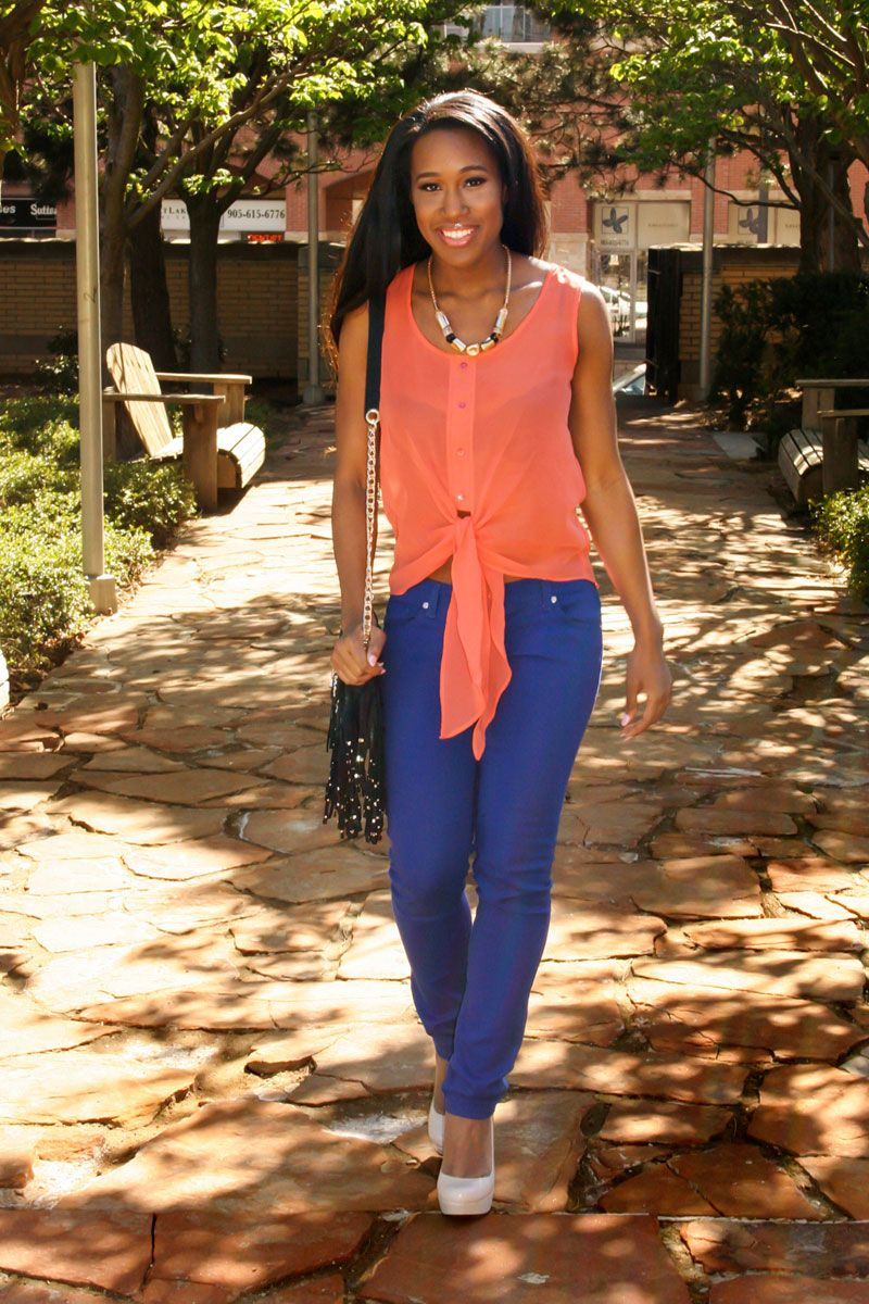 Cobalt Jeans Look Good on Everyone | Bright blue jeans