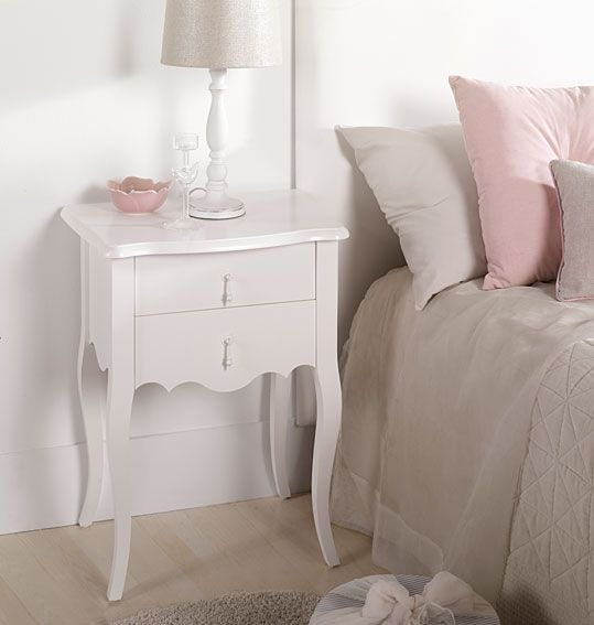 Mesa de noche vintage decoraci n pinterest mesitas - Mesitas de noche blancas conforama ...