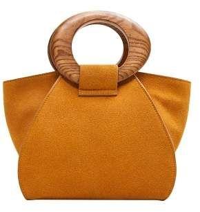 4dfe7e1d6a6 MANGO Wooden handle leather bag in 2019 | Wishlist | Bags, Handbag ...