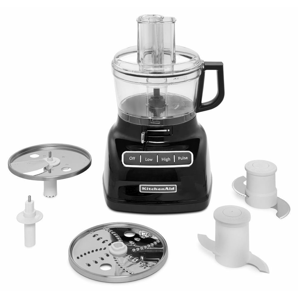 Kitchenaid kfp0722ob onyx black 7cup food processor with