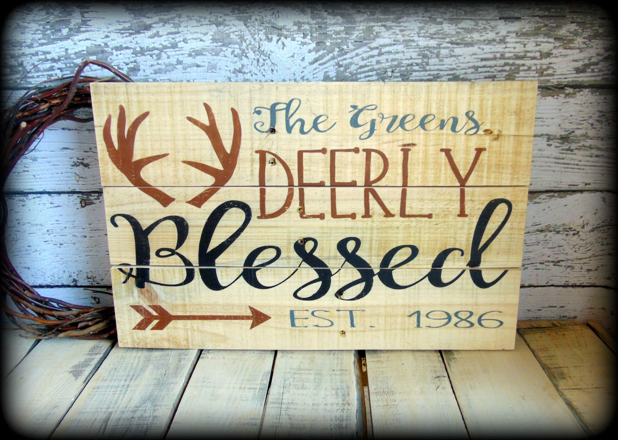 Personalized House Warming Gift Personalized Last Name Sign Rustic Wooden Pallet Sign
