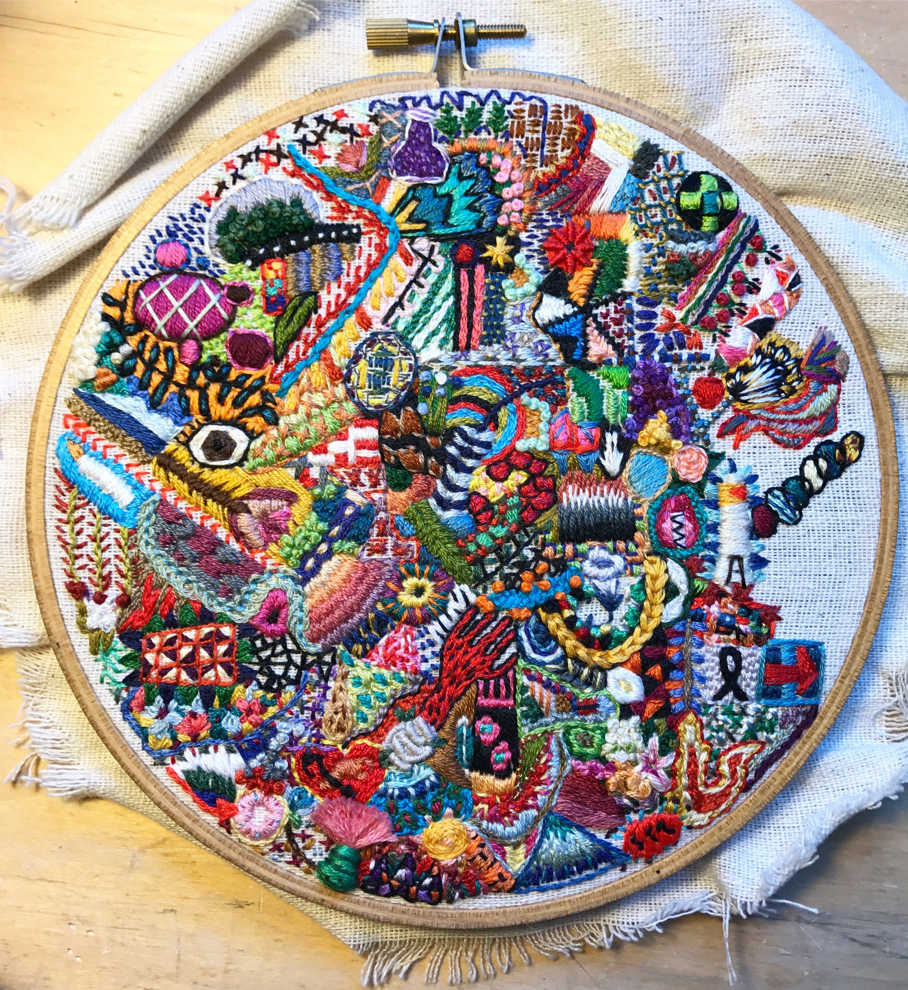Arte Queer Pdf Interview With Michelle Anais Beaulieu Morgan Queer Embroidery Artist