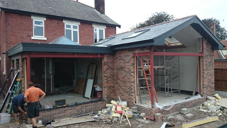 The New Rear Extension And Orangery Space Taking Shape