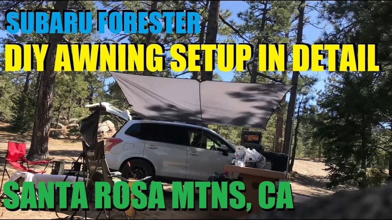 Sj Forester Diy Awning Setup In Detail Diy Awning Subaru Forester Awning