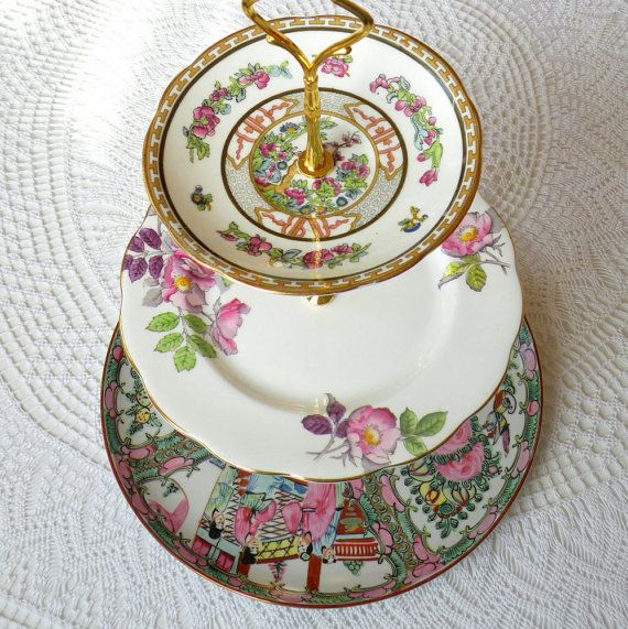 3 Tier Cake Plate Stand of Vintage China & 3 Tier Cake Plate Stand of Vintage China | A Spot Of Tea Madame ...