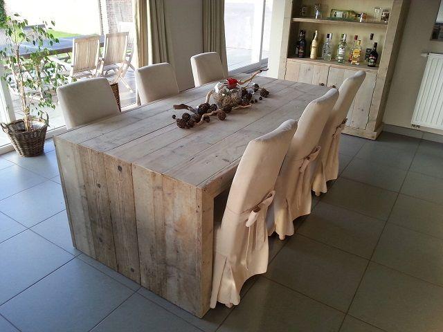 Tafel van steigerhout model Enschede. http://www.meubels-van ...