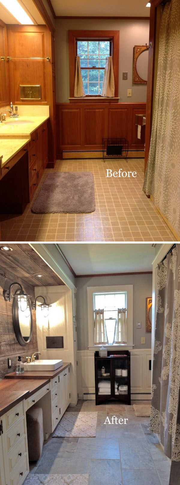 Before and after 40 amazing bathroom makeovers in 2019 - Bathroom makeovers before and after ...