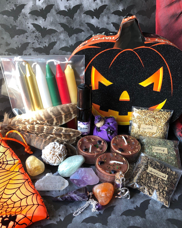Samhain Altar Set,Halloween Box Gift Set,Cat Magic,Altar