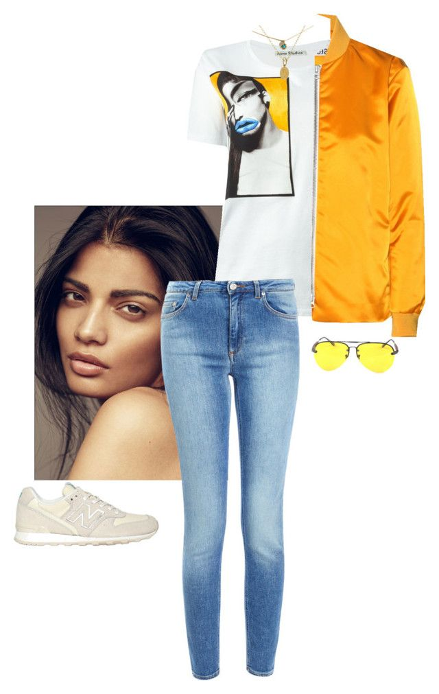 Untitled #54 by jdjmacpherson on Polyvore featuring polyvore, fashion, style, Acne Studios, New Balance, Cathy Waterman, Chicnova Fashion and clothing