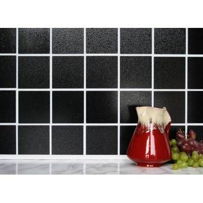 Black 4 X 4 Tiles 10cm X 10cm Self Adhesive Wall Tiles Wall Tiles