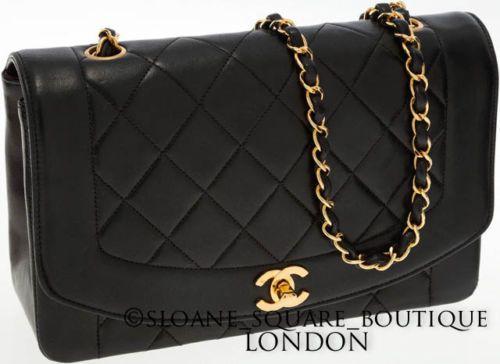 fe8016d68c94fd CHANEL-Vintage-Chanel-034-Diana-Black-Bag-2-55-Gold-Hardware-GHW-Harrods
