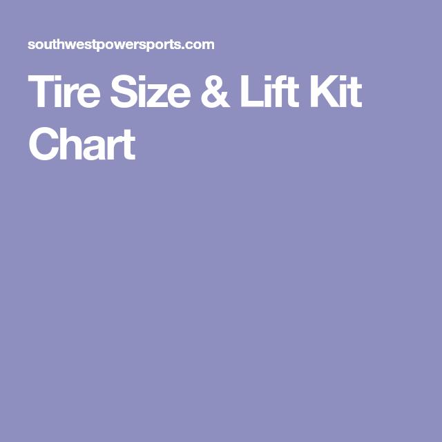Tire Size Lift Kit Chart Automotive Lift Kits Kit Chart