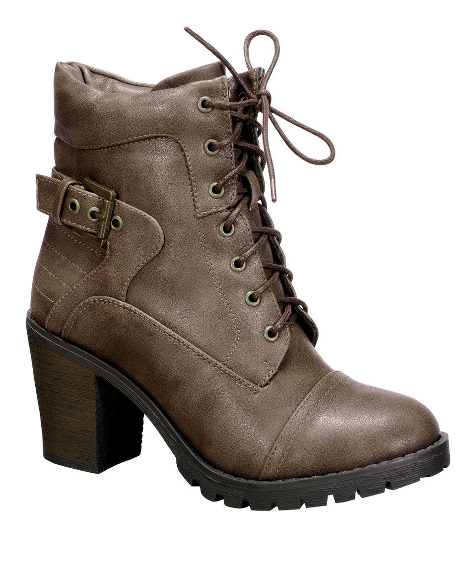 Love this Taupe Lace-Up Awe Boot by Nature Breeze on #zulily! #zulilyfinds