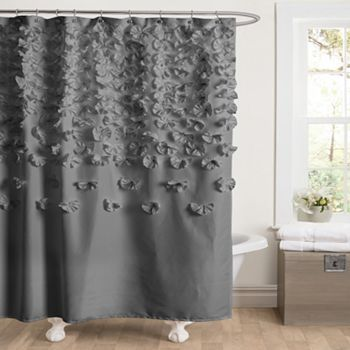 Lucia Fabric Shower Curtain Via Kohls Com With Images Red