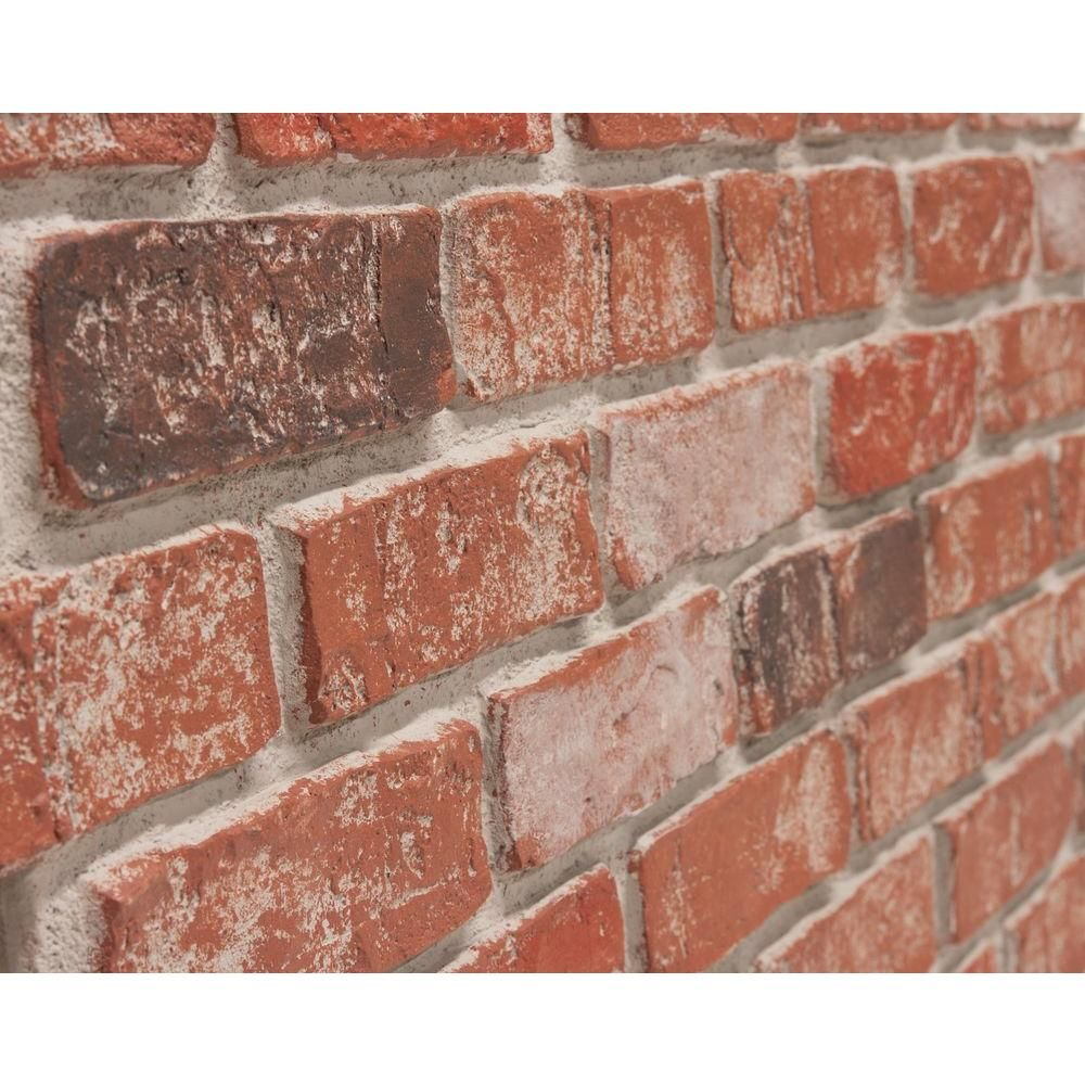 Urestone Old Town 24 In X 46 3 8 In Faux Used Brick Panel 4