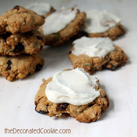 Oat and trail mix cookies