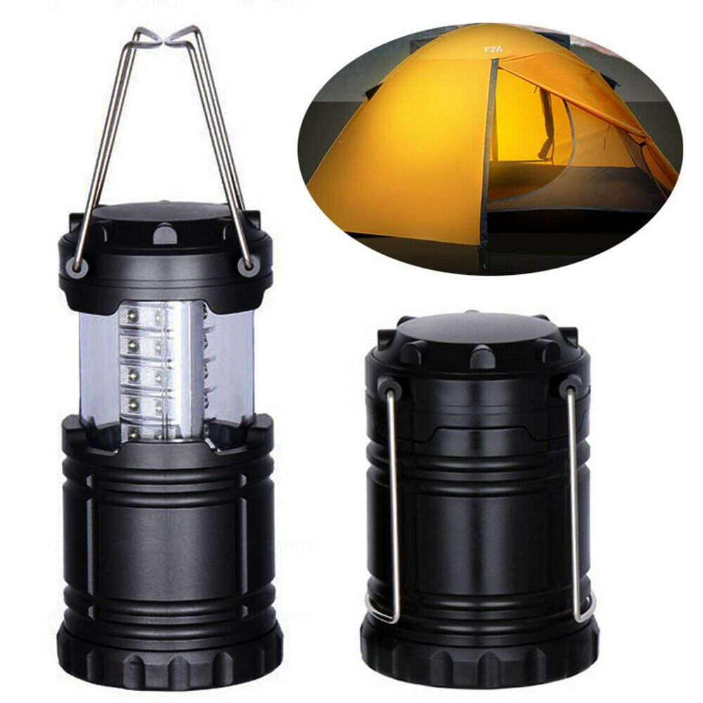 Portable Torch Solar Lantern AC Rechargeable Camping Hiking LED Night Tent Lamps